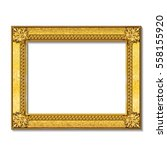 frame gold color with shadow on ... | Shutterstock .eps vector #558155920
