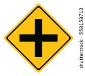 intersection ahead road sign... | Shutterstock .eps vector #558158713