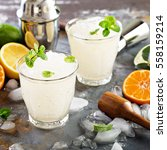 refreshing summer alcoholic... | Shutterstock . vector #558159214