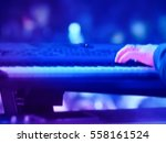 abstract blurred image. actor... | Shutterstock . vector #558161524