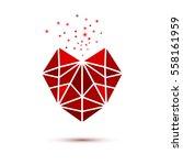 triangle heart shape symbol...   Shutterstock .eps vector #558161959
