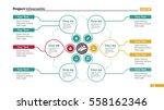 creative cycle diagram slide... | Shutterstock .eps vector #558162346