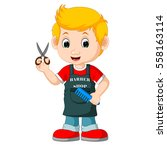 barber cartoon | Shutterstock .eps vector #558163114