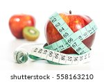 red apple fitnes concept with