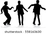 silhouette of a man. | Shutterstock .eps vector #558163630