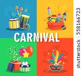 carnival concept with musical... | Shutterstock .eps vector #558166723