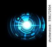 futuristic technology hud...   Shutterstock .eps vector #558172504