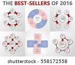 vector circle infographic set....   Shutterstock .eps vector #558172558