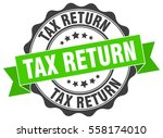 tax return. stamp. sticker.... | Shutterstock .eps vector #558174010