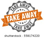 take away. stamp. sticker. seal.... | Shutterstock .eps vector #558174220