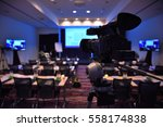 a conference room with rows of... | Shutterstock . vector #558174838