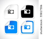 vector square stickers | Shutterstock .eps vector #55817506