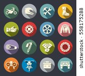 Motorcycle Icon Set