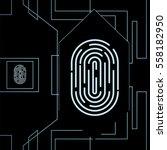 fingerprint for biometric...   Shutterstock .eps vector #558182950