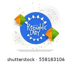illustration of happy indian... | Shutterstock .eps vector #558183106