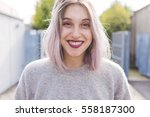 portrait of young beautiful...   Shutterstock . vector #558187300