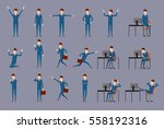 large vector set of businessman ... | Shutterstock .eps vector #558192316
