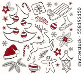 vector collection of winter... | Shutterstock .eps vector #558193150