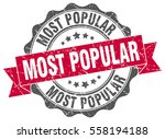 most popular. stamp. sticker.... | Shutterstock .eps vector #558194188