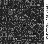 valentine day vector pattern... | Shutterstock .eps vector #558194530