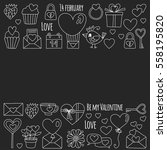 valentine day vector pattern... | Shutterstock .eps vector #558195820