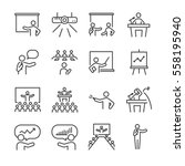 business presentation icons set | Shutterstock .eps vector #558195940