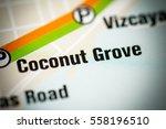 coconut grove station. miami... | Shutterstock . vector #558196510