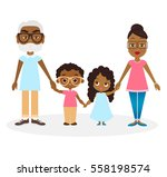 african american grandparents... | Shutterstock .eps vector #558198574