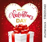 happy valentines day greeting... | Shutterstock .eps vector #558201460