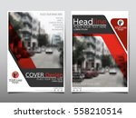 red flyer cover business... | Shutterstock .eps vector #558210514