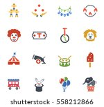 circus web icons for user... | Shutterstock .eps vector #558212866