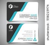 blue modern creative business... | Shutterstock .eps vector #558215974