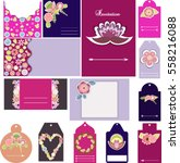 big set of templates for... | Shutterstock .eps vector #558216088