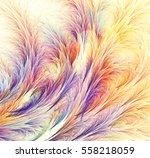 abstract fractal computer... | Shutterstock . vector #558218059