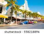 south beach miami  florida  ... | Shutterstock . vector #558218896