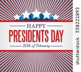presidents day background. usa... | Shutterstock .eps vector #558221893
