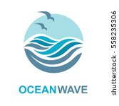 abstract design of ocean logo... | Shutterstock .eps vector #558235306