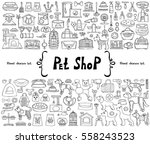 vector set with hand drawn... | Shutterstock .eps vector #558243523