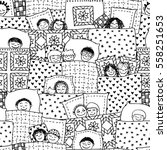 hand drawn seamless pattern... | Shutterstock .eps vector #558251653