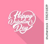 happy valentine's day greeting... | Shutterstock .eps vector #558251839