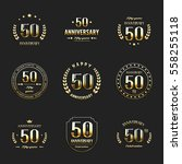 fifty years anniversary... | Shutterstock .eps vector #558255118