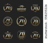 seventy years anniversary... | Shutterstock .eps vector #558255226