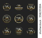 thirty five years anniversary... | Shutterstock .eps vector #558255304