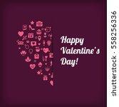 happy valentine's day  modern... | Shutterstock .eps vector #558256336