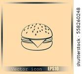 hamburger icon | Shutterstock .eps vector #558260248