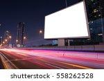 small blank billboard on light... | Shutterstock . vector #558262528