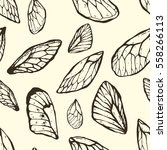 hand drawn seamless pattern... | Shutterstock .eps vector #558266113