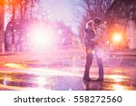 In Love Couple Kissing In The...
