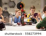 education  children  technology ... | Shutterstock . vector #558273994