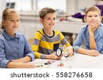 education  children  technology ... | Shutterstock . vector #558276658